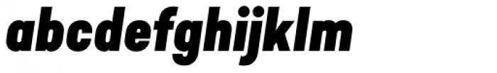 Predige Black Italic Font LOWERCASE