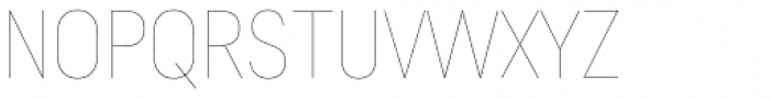 Predige Hairline Font UPPERCASE