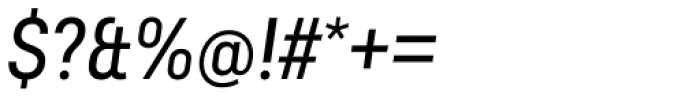 Predige Italic Font OTHER CHARS
