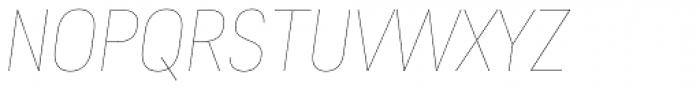 Predige Rounded Hairline Italic Font UPPERCASE