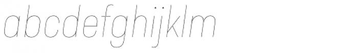 Predige Rounded Hairline Italic Font LOWERCASE