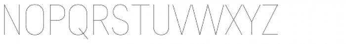 Predige Rounded Hairline Font UPPERCASE