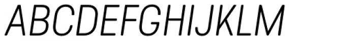 Predige Rounded Light Italic Font UPPERCASE