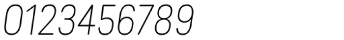 Predige Rounded Thin Italic Font OTHER CHARS