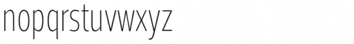 Prelo Compressed ExtraLight Font LOWERCASE