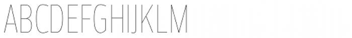 Prelo Compressed Hairline Font UPPERCASE