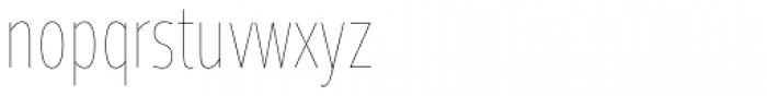 Prelo Compressed Hairline Font LOWERCASE