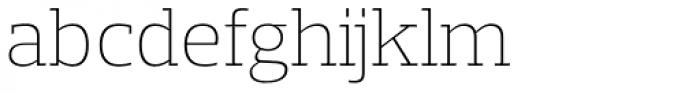 Prelo Slab ExtraLight Font LOWERCASE