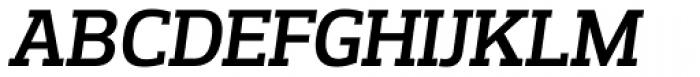 Prelo Slab SemiBold Italic Font UPPERCASE