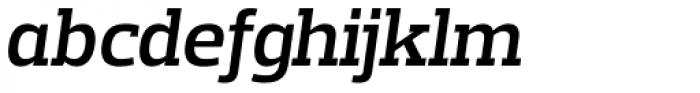 Prelo Slab SemiBold Italic Font LOWERCASE