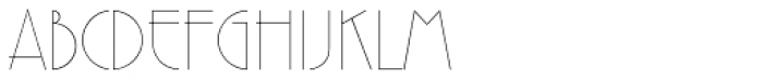 Premier Com Lightline Font UPPERCASE