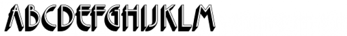 Premier Com Shaded Font LOWERCASE