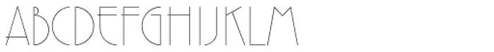 Premier Std Lightline Font UPPERCASE