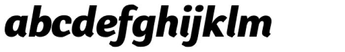 Presence ExtraBold Italic Font LOWERCASE