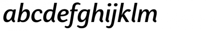 Presence Medium Italic Font LOWERCASE