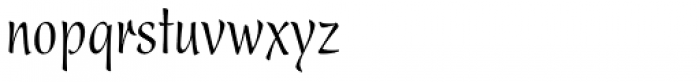 Present Condensed Font LOWERCASE