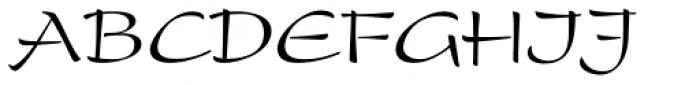 Present Roman Font UPPERCASE