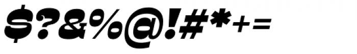Presley Slab Black Italic Font OTHER CHARS