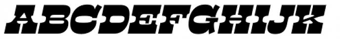 Presley Slab Black Italic Font UPPERCASE