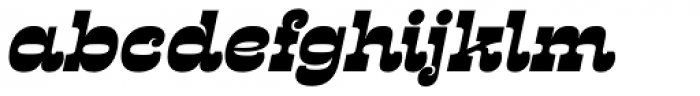 Presley Slab Black Italic Font LOWERCASE