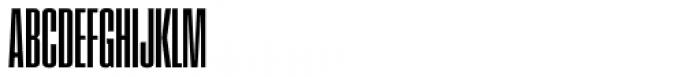Pressio No. 24 Bold X-Compressed Font UPPERCASE
