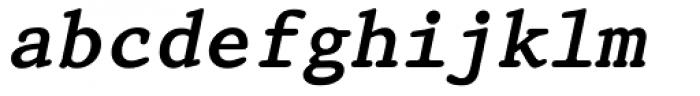 Prestige 12 Pitch Bold Italic Font LOWERCASE