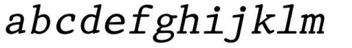 Prestige 12 Pitch Italic Font LOWERCASE