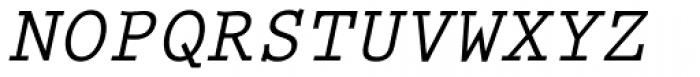 Prestige Elite Bold Slanted Font UPPERCASE