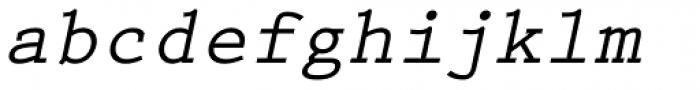 Prestige Elite Bold Slanted Font LOWERCASE