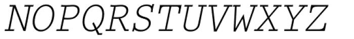 Prestige Elite M Regular Oblique Font UPPERCASE