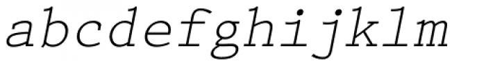 Prestige Elite M Regular Oblique Font LOWERCASE
