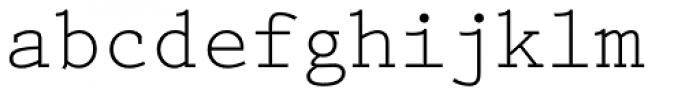 Prestige Elite M Regular Font LOWERCASE