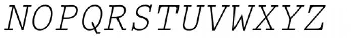 Prestige Elite Slanted Font UPPERCASE