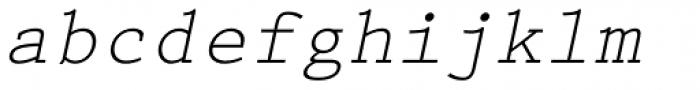Prestige Elite Slanted Font LOWERCASE
