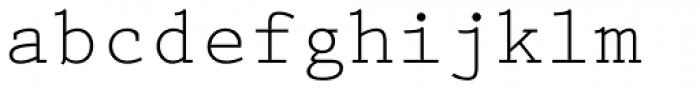 Prestige Elite Font LOWERCASE