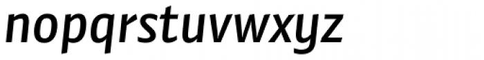 Preto Sans Medium Italic Font LOWERCASE