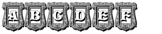 Pretoria Gross Decorative Shadow Font UPPERCASE