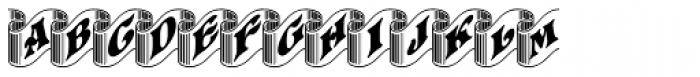 Pretoria Gross Ribbon Font UPPERCASE