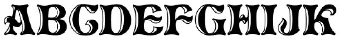 Pretorian DT Handtooled Font UPPERCASE