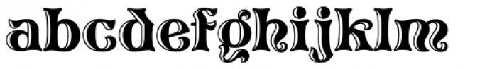 Pretorian DT Handtooled Font LOWERCASE