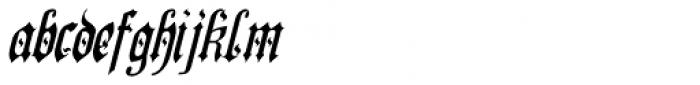 Preussen Special Italic Font LOWERCASE