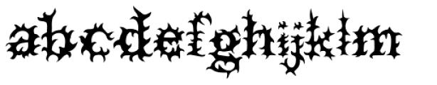 Prick Font LOWERCASE
