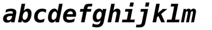 Prima Sans Mono Bold Oblique Font LOWERCASE