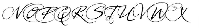 Prima Script Alternative Font UPPERCASE