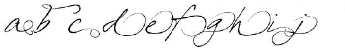 Prima Script Alternative Font LOWERCASE