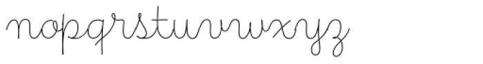 Primaria Fina Font LOWERCASE