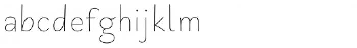 Primaria Print Fina Font LOWERCASE