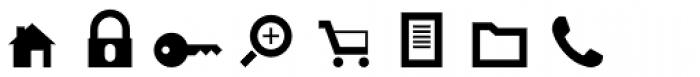 Primitive Icons Font LOWERCASE