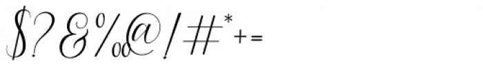 Princella Script Regular Font OTHER CHARS