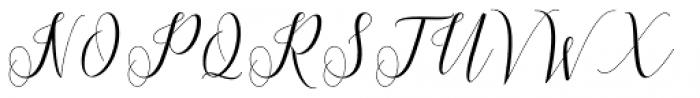 Princella Script Regular Font UPPERCASE
